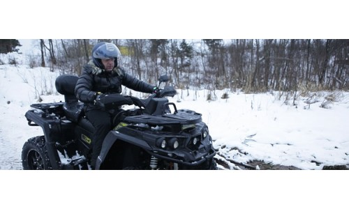Квадроциклы «Русской механики» приняли участие в зимнем мотокроссе